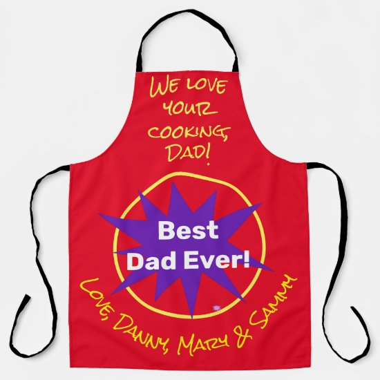 Create Your Own Fathers Day Personalized  Apron