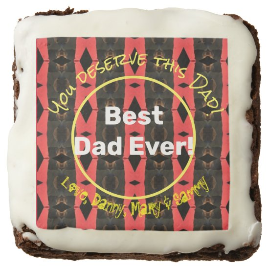 Create Your Own Fathers Day Personalized Brownies