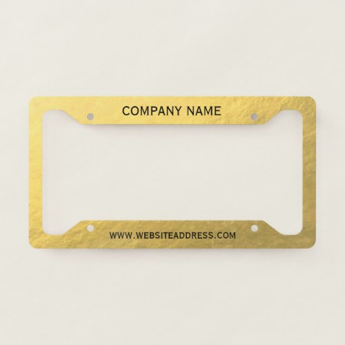 Create Your Own Faux Gold Licence Plate Frame
