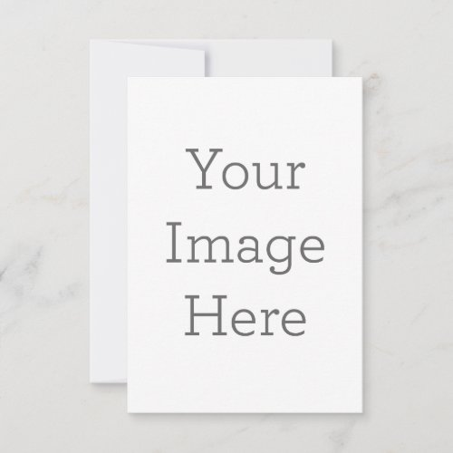 Create Your Own Flat Announcement Card
