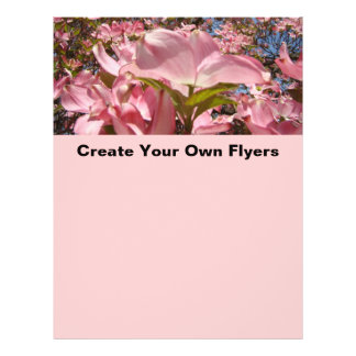 Create Your Own Flyers Pink Dogwood Flowers Office