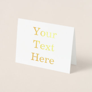 Create Your Own Foil Card
