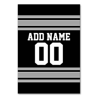 Create Your Own Football Jersey - Black Silver Card