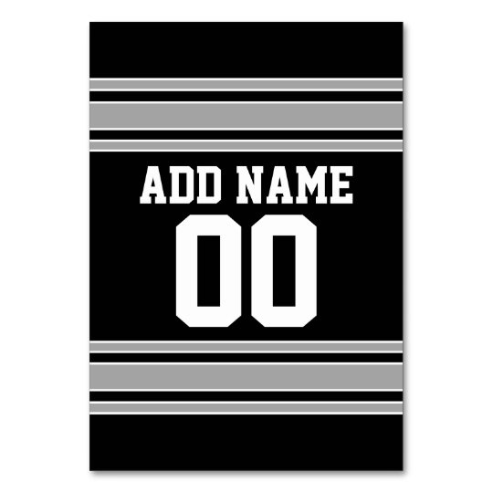e880e8128d83 Create Your Own Football Jersey - Black Silver Table Number