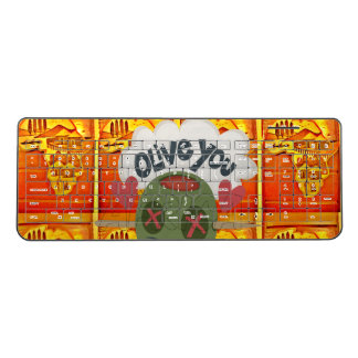 Create Your Own Funny I love You Africa red golden Wireless Keyboard