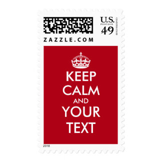 Create your own funny keep calm postage stamps