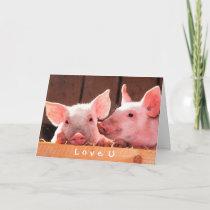 Create Your Own Funny Photo Love You Custom Card