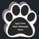 """Create Your Own Funny Text Message Pet Car Magnet<br><div class=""""desc"""">Create Your Own Funny Text Message Pet Car Magnet. Add any funny message or text related to your pet dog or cat. Prest a fun gift to family or friends.</div>"""