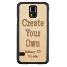 Create Your Own Galaxy S5 Maple Carved Maple Galaxy S5 Slim Case at Zazzle
