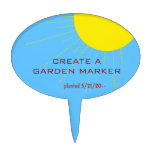Create Your Own Garden Marker Cake Toppers