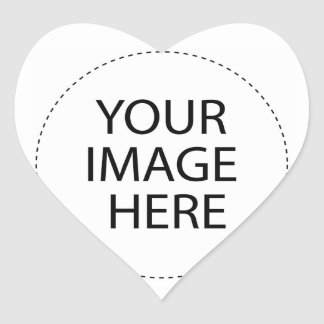♪♫♪ Create Your Own Gifts ~ Customize Blank Heart Sticker
