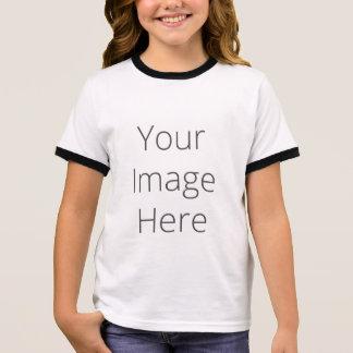 Create Your Own Girl's Ringer T-Shirt