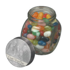 Create Your Own Glass Candy Jar at Zazzle
