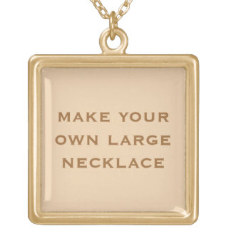 Create Your Own Gold Plated Necklace