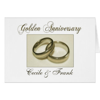 Create your own Golden Anniversary Greeting Card