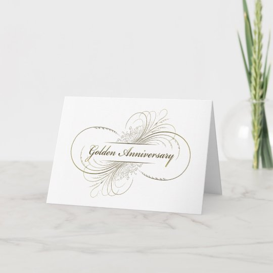 create your own golden anniversary design card  zazzle