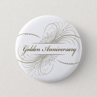 Create Your Own Golden Anniversary Design Pinback Button