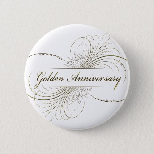 Create Your Own Golden Anniversary Design Pinback Button