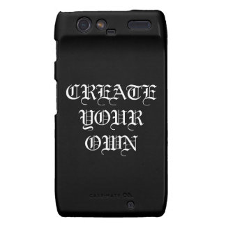 Create Your Own Gothic Cellphone Case Motorola Droid RAZR Cover