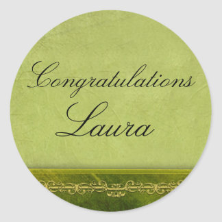 Create your own graduation classic round sticker