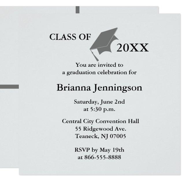 design your own graduation invitations