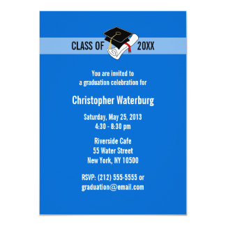 Create Your Own Graduation Invitation Blue 10