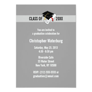 Create Your Own Graduation Invitation Gray 10
