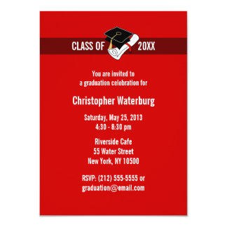 Create Your Own Graduation Invitation Red 10