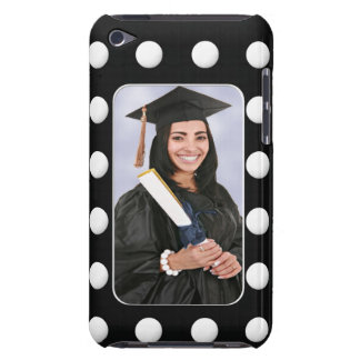 Create Your Own Graduation Photo With Polka Dots iPod Touch Case-Mate Case