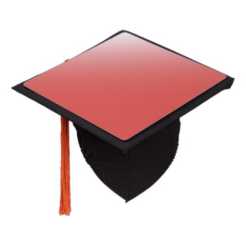 Create your own  grenadine to white graduation cap topper