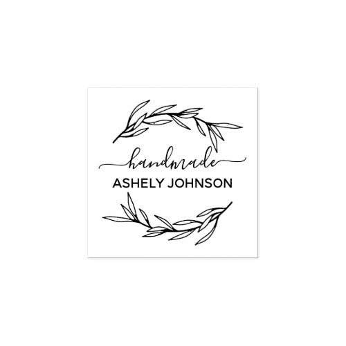 Create Your Own Handmade Name Rubber Stamp