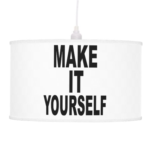 Create Your Own Hanging Lamp Shade Zazzle