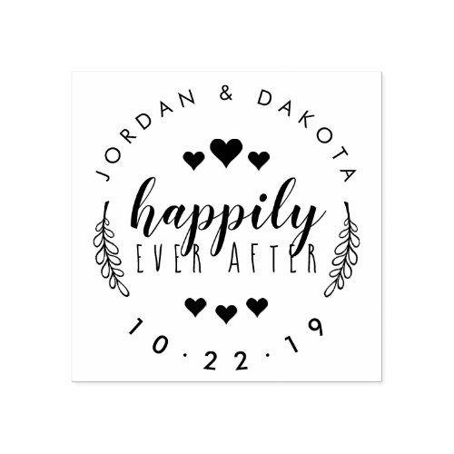 Create Your Own Happily Ever After Just Married Rubber Stamp
