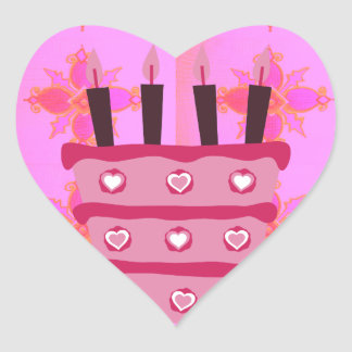 Create your own Happy Birthday Heart Sticker