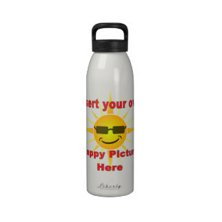 Create your own happy metal sports bottle reusable water bottles