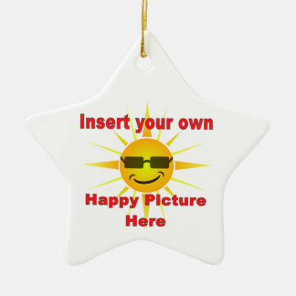 Create your own happy Ornament