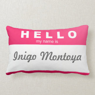"Create Your Own ""Hello, My Name Is..."" Pillow! Pillow"