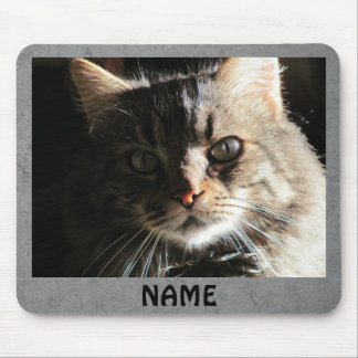 """Create your own """"Hobo"""" text/Gray Slate Mouse Pad"""