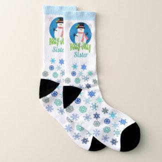 Create Your Own Holly Jolly Snowman Christmas Socks
