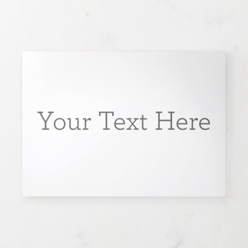 Create Your Own Horizontal Trifold Letter Card