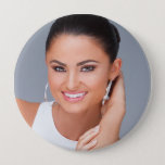 "Create your own -  Huge 4 Inch Fan Button<br><div class=""desc"">Upload your own picture to create your own custom fan button.  This photo button is HUGE! 4 Inches. Not too small and not too big. Just right for your fans!</div>"