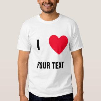 "Create Your Own ""I LOVE (blank)"" Tshirt"