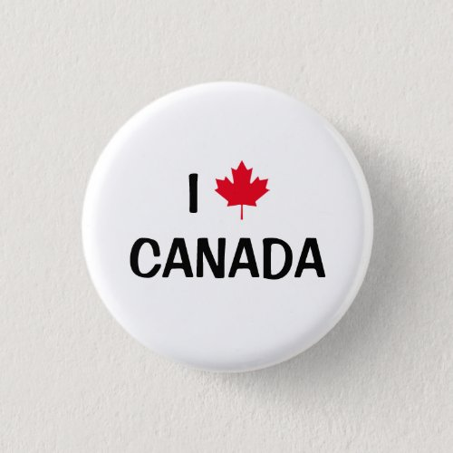 Create Your Own I Love Canada Maple Leaf Button