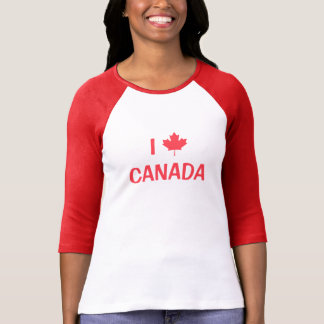 Create Your Own I Love Canada Maple Leaf T-Shirt