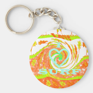 Create Your Own  I Love Surfing. Keychain