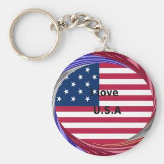 Create Your own I LOVE USA Keychain