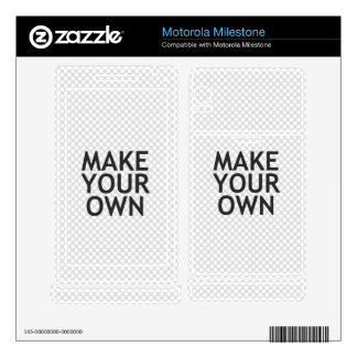 Create Your Own in One Easy Step Motorola Milestone Decal