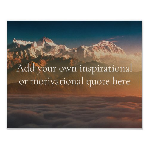 Create your own InspirationalMotivational Quote Poster