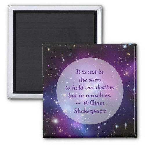 Create Your Own Inspirational Quote Purple Cosmic Magnet
