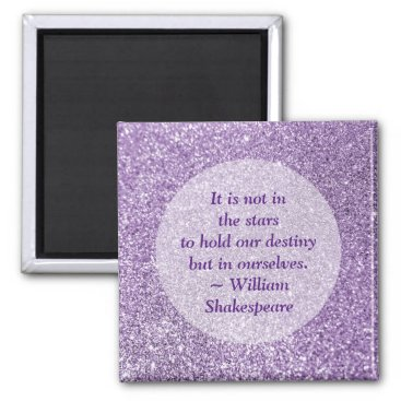 annaleeblysse Create Your Own Inspirational Quote Purple Glitter Magnet